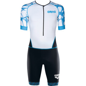 arena ST Aero Front Zip Trisuit Men black/white/aqua blue